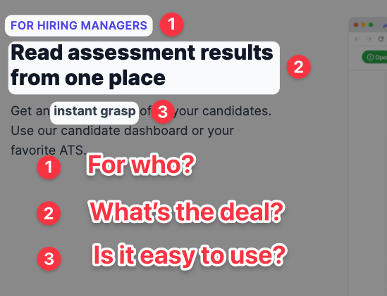 Feature: for hiring managers